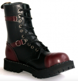 Glady - boty STEEL BORDO BLACK 2P, 10 dírek (ES)