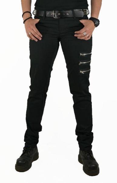 Kalhoty černé se 3 zipy - dámské 5975fcf214