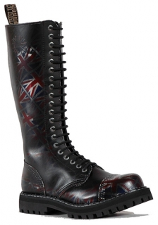 Glady - boty STEEL UK BLACK, 20 dírek